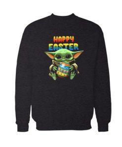 Baby Yoda hug Happy Easter Sweatshirt For Unisex
