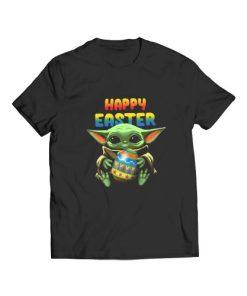 Baby Yoda hug Happy Easter T-Shirt