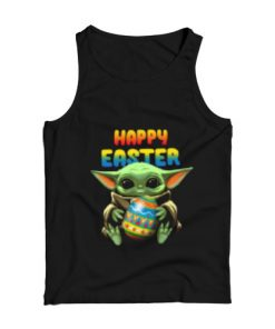 Baby Yoda hug Happy Easter Tank Top for Unisex
