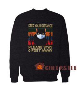Black Cat face mask Sweatshirt For Unisex