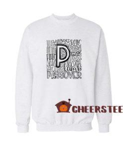 Passover Typography Sweatshirt For Unisex