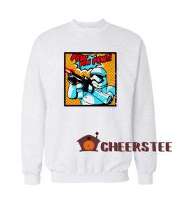 Stormtrooper Pew Pew Sweatshirt For Unisex