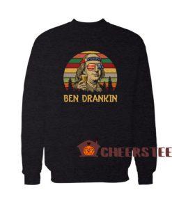 Ben Drankin Vintage Sweatshirt Benjamin Franklin America Size S – 5XL