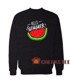 Hello Summer Watermelon Sweatshirt Funny Summer Size S – 5XL