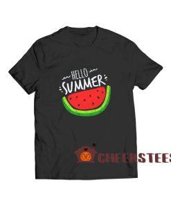 Hello Summer Watermelon T-Shirt Funny Summer Size S – 5XL