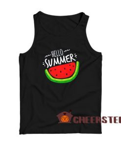 Hello Summer Watermelon Tank Top Funny Summer Size S – 3XL
