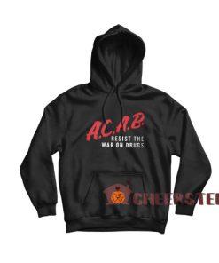 Acab Dare Logo Hoodie Resist The War On Drugs Size S – 3XL