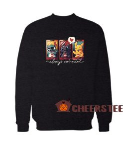 Always Connected Sweatshirt Stitch Toothless and Pikachu Size S – 3XL