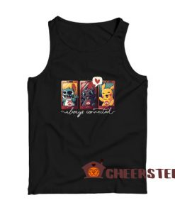 Always Connected Tank Top Stitch Toothless and Pikachu Size S – 2XL