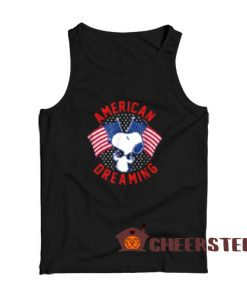 American Dreaming Snoopy Tank Top American Flag Size S-2XL