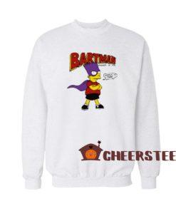 Bartman Avenger of Evil Sweatshirt The Simpsons Size S-3XL