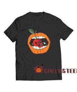 Cherry Lip Freaky Skull T-Shirt Halloween Lip Girl S-3XL