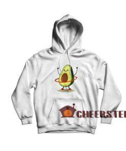 Hula Hoop Avocado Hoodie Cute Avocado Size S-3XL