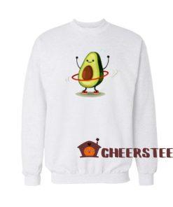 Hula Hoop Avocado Sweatshirt Cute Avocado Size S-3XL