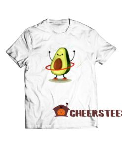 Hula Hoop Avocado T-Shirt Cute Avocado Size S-3XL