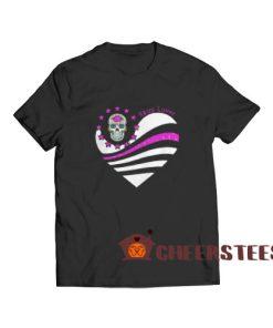 Skull Lover Heart T-Shirt Cute Skull S-3XL