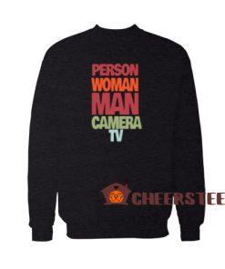 Person Woman Man Camera TV Sweatshirt Vintage Size S-3XL