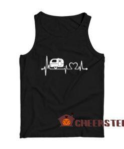 RV Camper Heartbeat Tank Top Happy Camper For Unisex