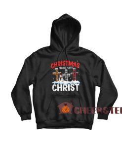 Christmas Begins Christ Hoodie Xmas Top For Unisex