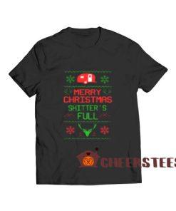 Christmas Shitter's Full T-Shirt Camping Lover