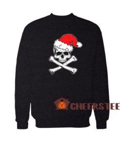 Skull Crossbone Christmas Sweatshirt Christmas Gift For Unisex