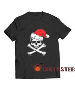 Skull Crossbone Christmas T-Shirt Christmas Gift
