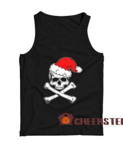 Skull Crossbone Christmas Tank Top Christmas Gift For Unisex