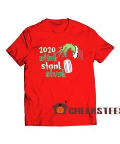 2020 Stink Stank Stunk T-Shirt Grinch Mask Size S-3XL
