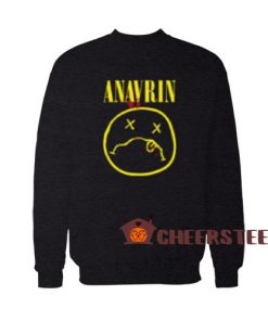 ANAVRIN Parody Logo Sweatshirt Nirvana Parody For Unisex