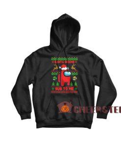 Among Us Christmas Hoodie Santa Seems Sus To Me Size S-3XL