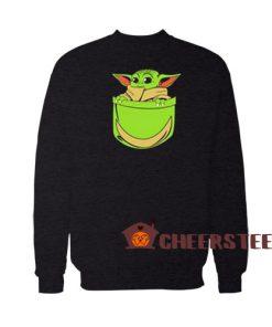 Baby Yoda Pocket Sweatshirt Star Wars For Unisex