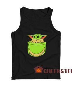 Baby Yoda Pocket Tank Top Star Wars For Unisex