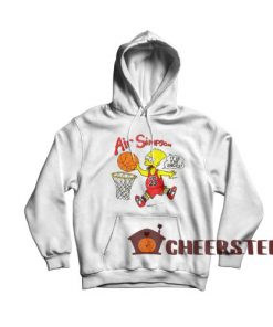 Bart Air Simpson Hoodie Bart 1990s Chicago For Unisex