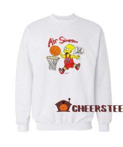 Bart Air Simpson Sweatshirt Bart 1990s Chicago For Unisex