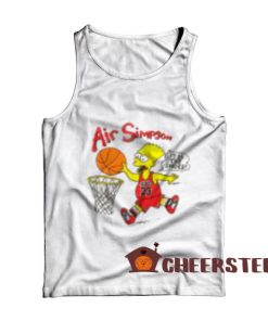 Bart Air Simpson Tank Top Bart 1990s Chicago For Unisex
