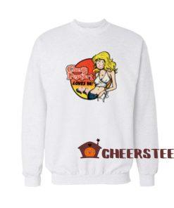 Cherry Poptart Larry Welz Sweatshirt Loves Ya For Unisex