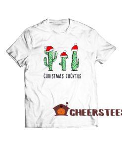 Christmas Fucktus Cactus T-Shirt Merry Christmas Size S-3XL