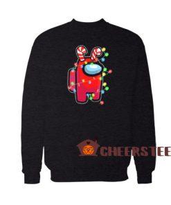 Christmas Santa Among Us Sweatshirt Impostor Size S-3XL