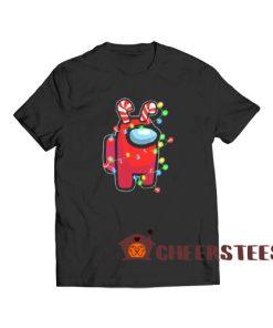 Christmas Santa Among Us T-Shirt Impostor Size S-3XL