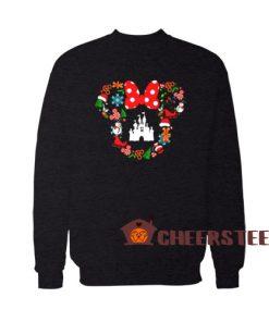 Disney Christmas Cute Sweatshirt Minnie Head For Unisex