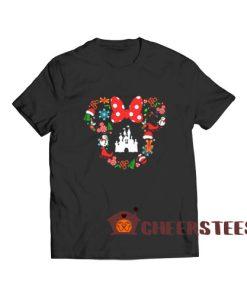 Disney Christmas Cute T-Shirt Minnie Head