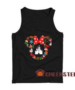 Disney Christmas Cute Tank Top Minnie Head For Unisex