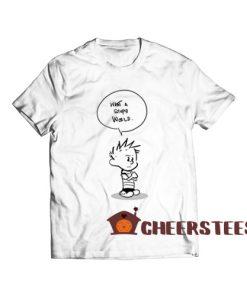 Calvin and Hobbes Stupid World T Shirt